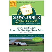 Slow Cooker Gourmet Lewis and Clark Lentil & Sausage Stew