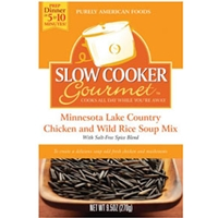 Slow Cooker Gourmet Minnesota Lake Country Chicken and Wild Rice Soup
