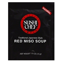 Sushi Chef Traditional Japanese Style Red Miso Soup
