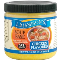 L.B. Jamison's Chicken Flavored Soup Base 16oz.