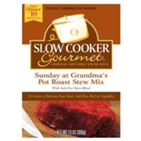Slow Cooker Gourmet Sunday at Grandma's Pot Roast Stew