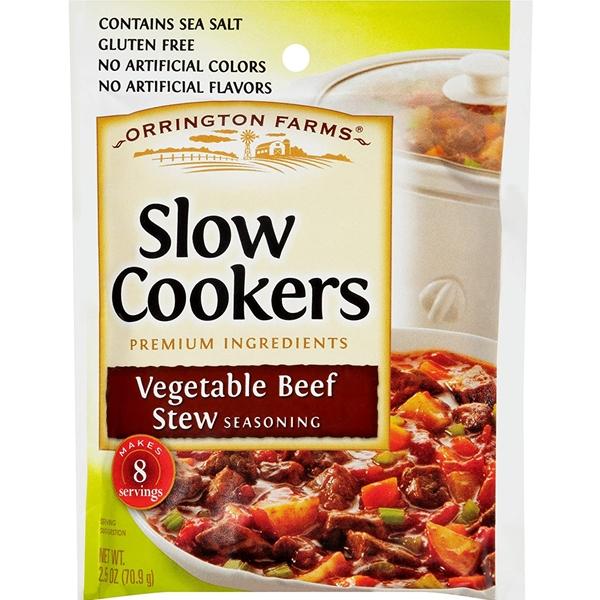 Orrington Farms Slow Cookers Vegetable Beef Stew Seasoning