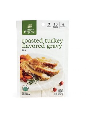 Simply Organic Roasted Turkey Flavored Gravy