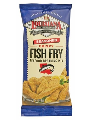 Louisiana Fish Fry Seasoned Crispy Fish Fry Breading - 10 oz