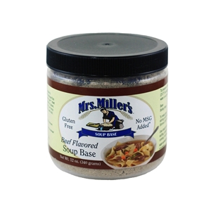 Mrs. Miller's Beef Flavored Soup Base-12oz.