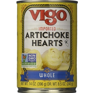 Vigo Imported  Whole Artichoke Hearts 14oz.