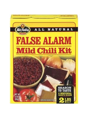 Wick Fowlers Famous False Alarm Mild Chili Kit