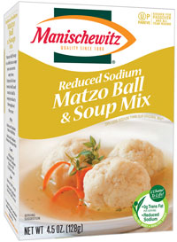 Manischewitz Matzo Ball & Soup - Reduced Sodium