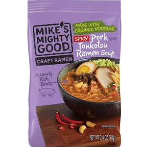 Mike's Mighty Good Spicy Pork Tonkotsu Craft Ramen Soup Pillow Pack