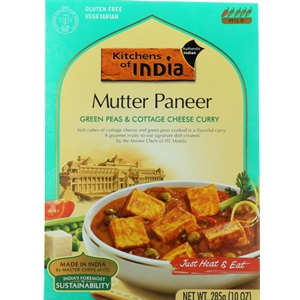 Kitchens of India Mutter Paneer Green Peas & Cottage Cheese Curry Dinner