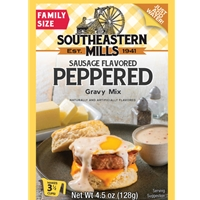 Southeastern Mills Old Fashioned Peppered Gravy Mix With Sausage Flavor 3 1/2 Cups