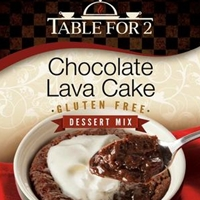 Table For 2 Chocolate Lava Cake Mix