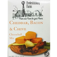Fredericksburg Farms Cheddar, Bacon & Chive Cheeseball Mix