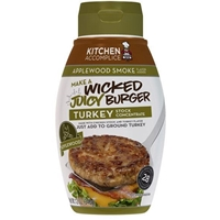 Kitchen Accomplice Applewood Smoke Turkey Burger Concentrate