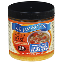 L.B. Jamison's Sodium Free Chicken Flavored Soup Base - 6 oz
