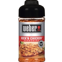 Give your poultry a mild kick with Weber! Kick 'n Chicken Seasoning