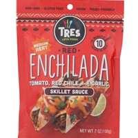 Tres Latin Foods Red Enchilada Skillet Sauce Medium Heat