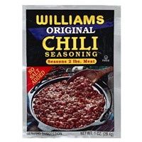 Williams Original Chili Seasoning For 2 lbs. Meat
