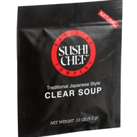 Sushi Chef Traditional Japanese Style Clear Soup